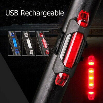5 LED USB Rechargeable Bike Tail Light Bicycle Safety Cycling Warning Rear Lamp 2