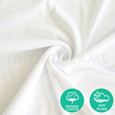 2x / 4x / 8x Natural Cotton Cover Pillow Protector Zip Closure Standard Case 3