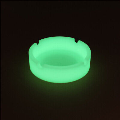 Glow In The Dark Luminous Silicone Soft Ashtray For Smoking Cigarette Cigar 4