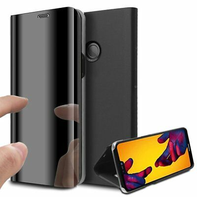 Luxury Mirror View Clear Stylish Flip PU Case Cover For Huawei P20 Lite P20 Pro 2
