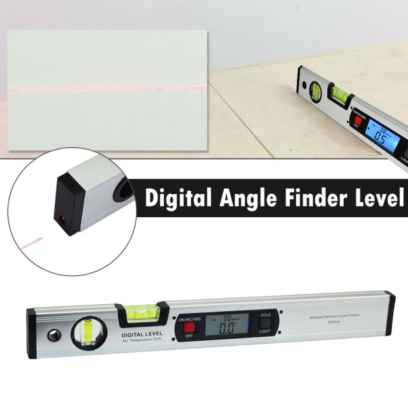 400mm LCD Digital Electronic Angle Finder Meter Protractor Dual Spirit Level 3