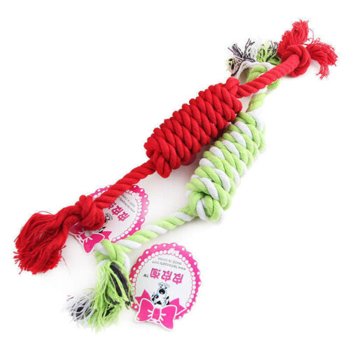 NEW Puppy Dog Pet Chew Toy Cotton Braided Bone Tug Play Game Rope Knot Toy 6