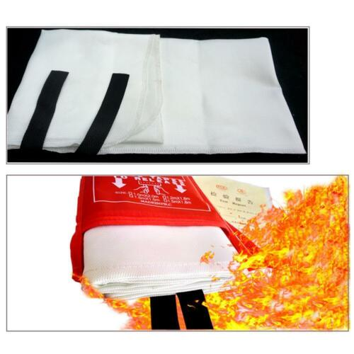 FIRE BLANKET 1M x 1M QUALITY QUICK RELEASE LARGE FULLY APPROVED RED CASE 10