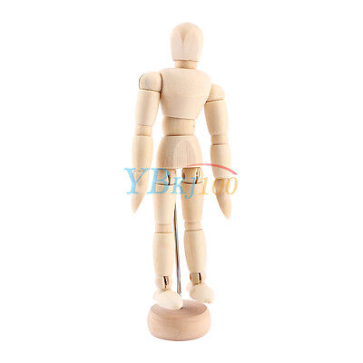 7 of 12 Hot Artist Movable Limbs Male Wooden Figure Model Mannequin Art Sketch Drawing