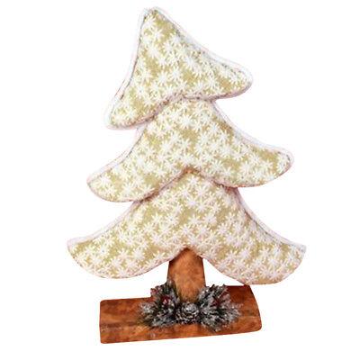 Decorazioni Natalizie Dorate.Albero Di Natale Inclinato In Tessuto Oro 41cm Decorazioni Natalizie Dorato