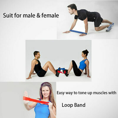 Workout Resistance Bands Loop Set CrossFit Fitness Yoga Booty Leg Exercise Band 4