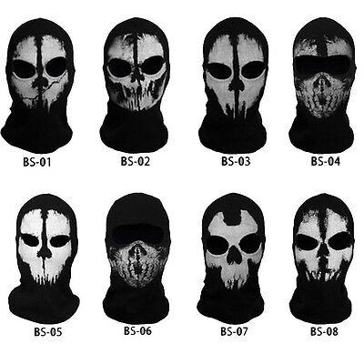 Ghost Skull Thermal Balaclava Full Face Mask Motorcycle Motorbike Ski Neck Cover 2