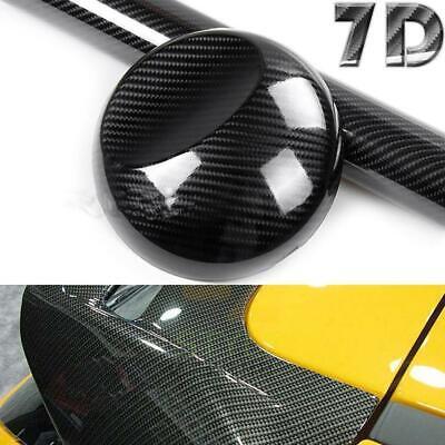 7D Premium HIGH GLOSS Black Carbon Fiber Vinyl Wrap Bubble Free Air Release Car 6