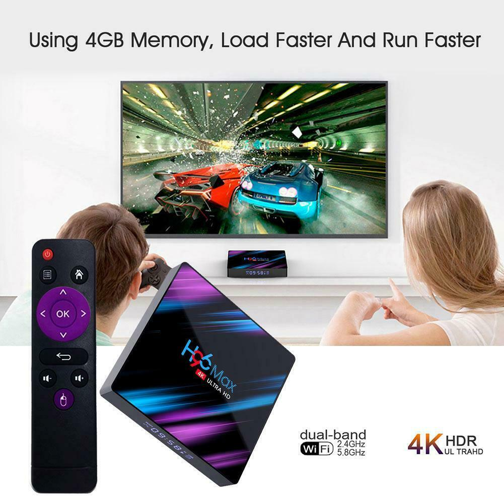 H96 MAX RK3318 Smart TV BOX Android 9.0 4GB 64GB Quad Core 1080p 4K LED screen 5