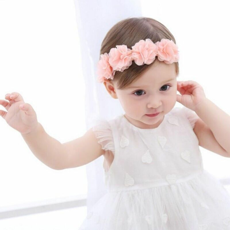Cute Lace Flower Kids Baby Girl Toddler Headband Hair Band Headwear Accessories 5