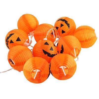 10 LED Pumpkin String Fairy Lights Lantern Party Home Props Halloween Decoration 12