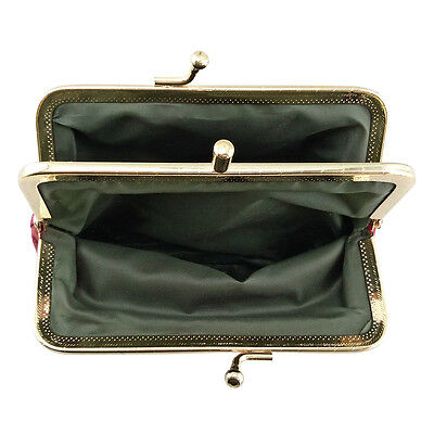 Women Genuine Leather Coin Purse Hasp Small Wallet Card Holder Bag 12*8.5*1.3cm 6