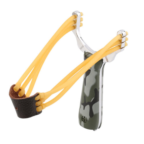 1PC Outdoor Powerful Steel Catapult Slingshot Marble Hunting Games Sling Shot AU