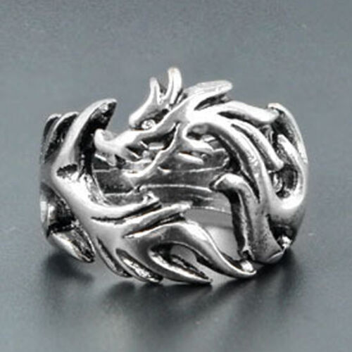 Newest Jewelry Men's Ring Alloy Punk Design Dragon Ring US Size 8 9 10 VNC 4