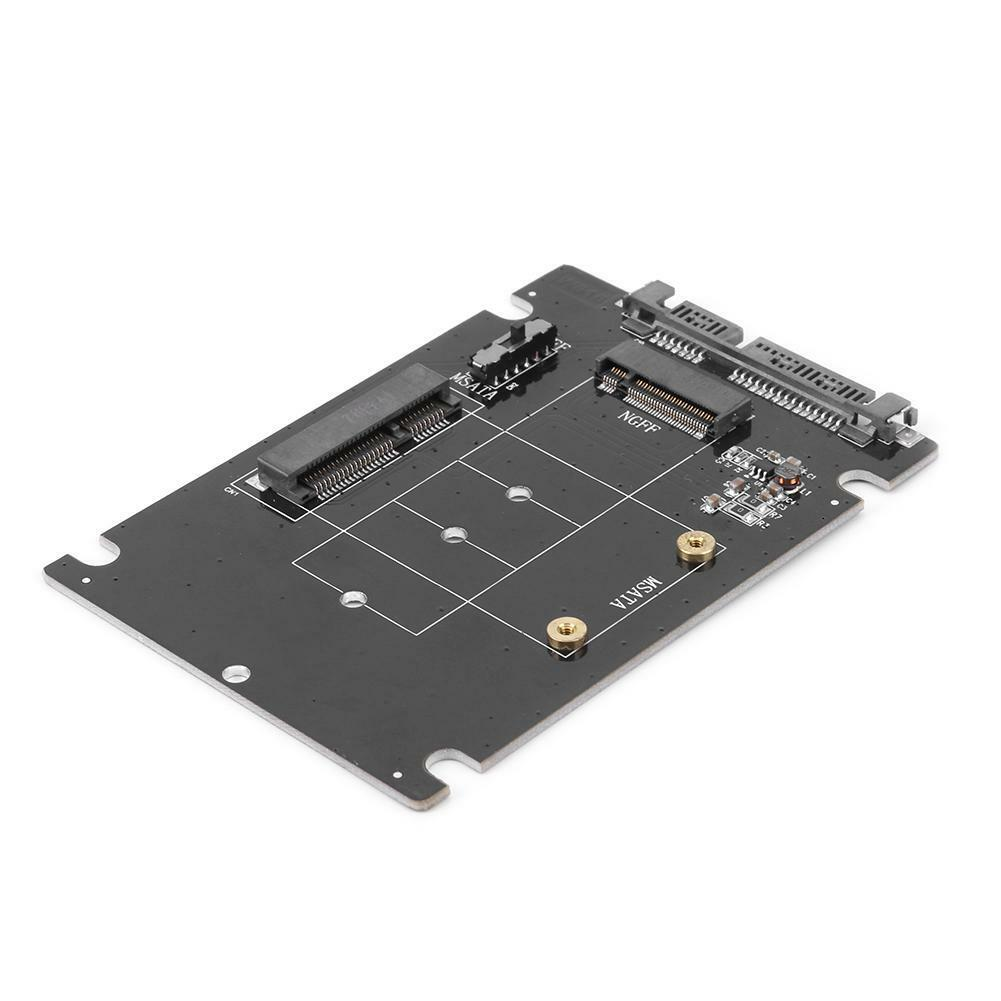 2 in 1 mSATA to SATA NGFF M.2 to SATA3 Adapter Card SSD Solid State Disk Drive 5