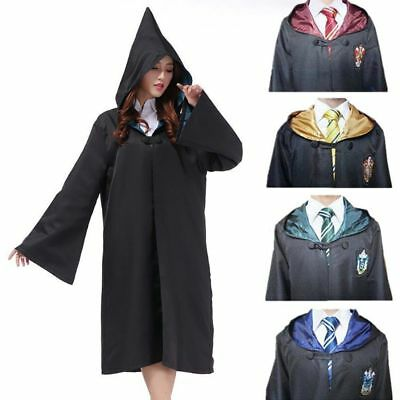 Harry Potter Cape Costume Cosplay Manteau écharpe Cravate Gryffindor SlytherinFR 2