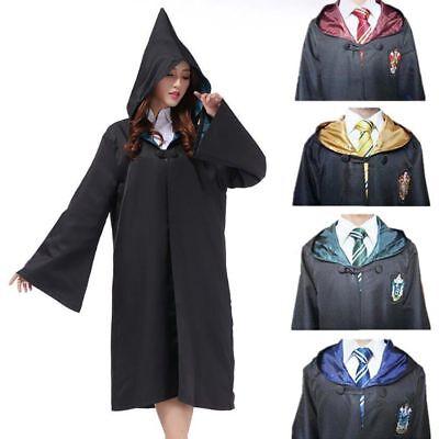 Harry Potter Manteau écharpe Krawatt Gryffindor Slytherin Ravenclaw Cape Costume 4