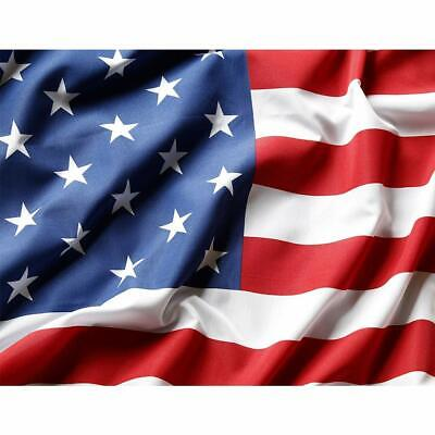 3x5 ft American Flag USA US U.S. Embroidered Stars Sewn Stripes Brass Grommets 3