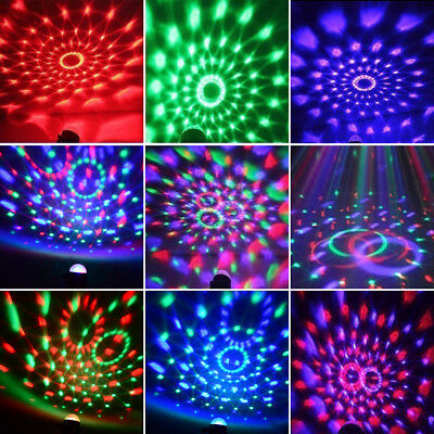 AU RGB LED remote Disco Home Party Crystal Magic Ball Strobe Effect Light Lamp 10