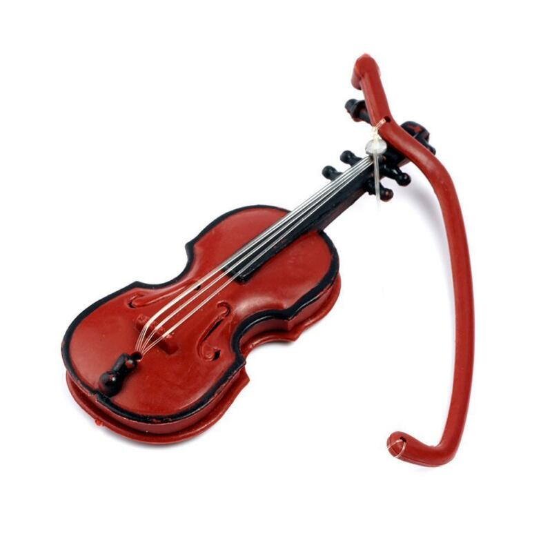 1:12 Doll House Miniature Music Instrument Violin Model Room Mini-Instrument New 6