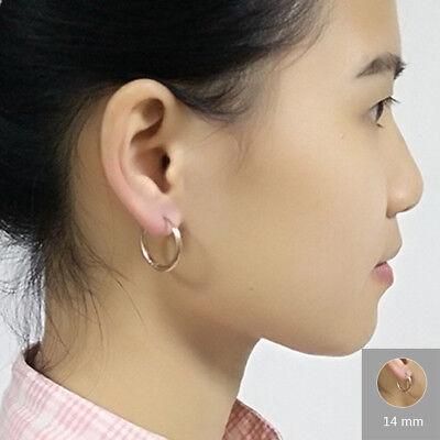 2Pcs Men Women Stainless Steel Hoop Huggie Ear Helix Cartilage Stud Ring Earring 7