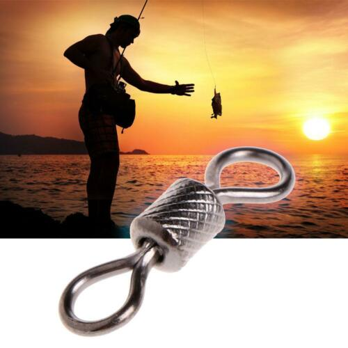 PRO Rolling Fishing Barrel Bearing Swivel Solid Ring Tackle Connector  HOT 2