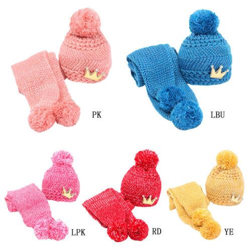 1 sur 8Livraison gratuite Bonnet Chapeau Tricot Echarpe Chaud Hiver Pour  Enfant Bébé Fille Garçon Cadeau 21539e29b3c