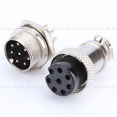 Aviación Enchufe 2/3/5/6/8 Pin GX16  Macho Hembra Panel Metal Conector Adaptador 5