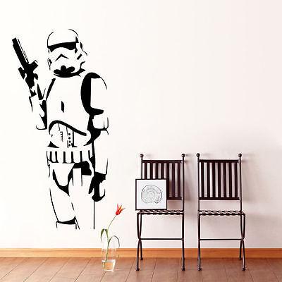 Wall Sticker Stormtrooper Star Wars Removable Decal Vinyl Mural art Home Decor