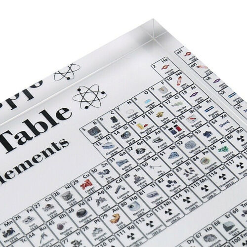 17X12cm Periodic Table Display with Elements Acrylic Student Teacher Gift Desk 7