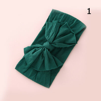 Baby Girls Kids Toddler Bow Hairband Headband Stretch Turban Knot Head Wrap H9 2