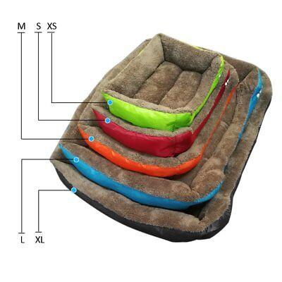 Large soft warm mat pet kennel dog mat cat bed washable candy color square nest 3