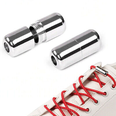 Easy No Tie Rubber Shoe Laces For Adults Kids Trainers Canvas Elastic ShoeLaces 2