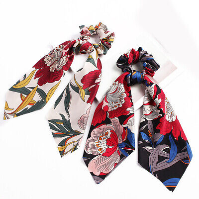 Attractive Ponytail Scarf Bow Elastic Hair Rope Tie Scrunchies Ribbon Hair Bands 11