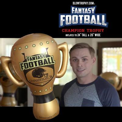"""Fantasy Football Trophy Blow Trophy GIANT Inflatable 24"""" x 20"""" Annual Perpetual 6"""