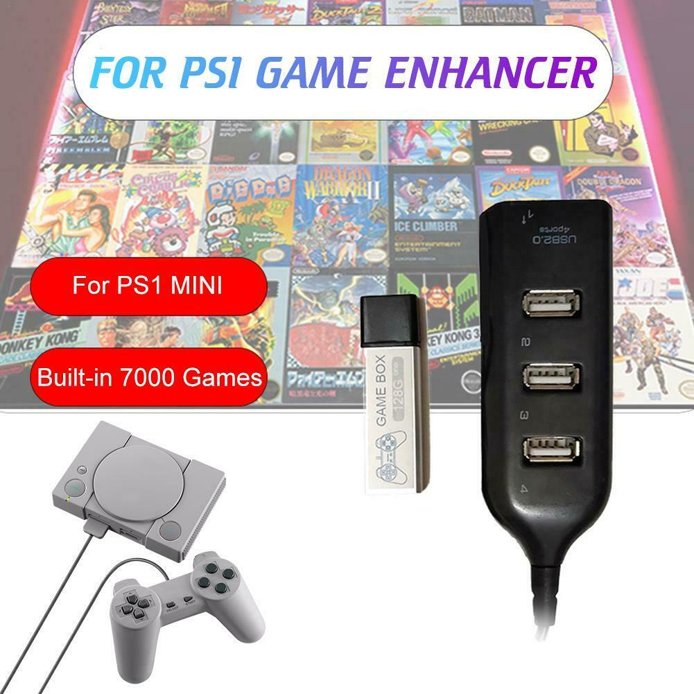 128G PS1 MINI True Blue Mini Crackhead Pack For Playstation Built-in 7000 Games` 3