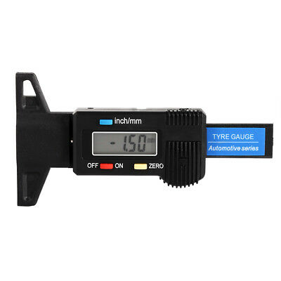 New LCD Display Digital Depth Gauge Tyre Tire Tread Brake Pad Shoe Wear 0-25.4mm