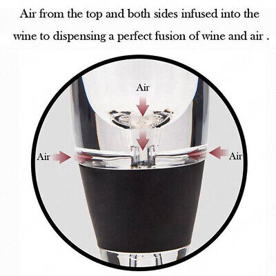 Magic Decanter Pourer Essential Aerating Air Hopper Red Wine Aerator Filter Set 7