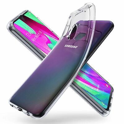 Cover Custodia + Pellicola Vetro Temperato Per Samsung A40 A 40 Trasparente 9