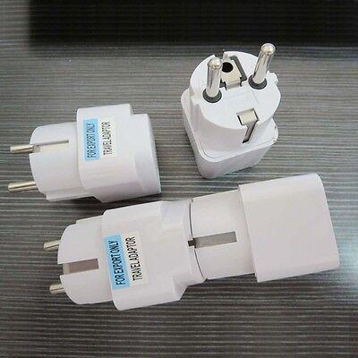 USA US UK AU To EU Europe Travel Charger Power Adapter Converter Wall Plug Home 7