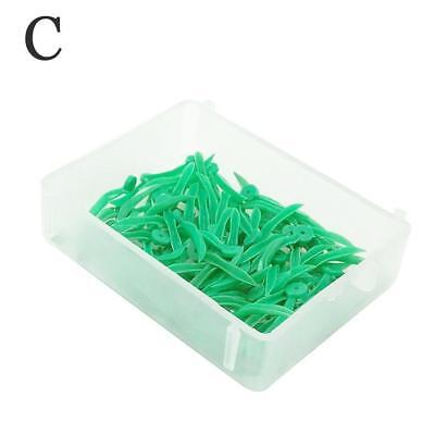 100 Pcs Dental Plastic Poly-Wedges with Holes Round Stern 4 Colors 4 Size LMSSS 7