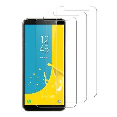 Film protection écran Galaxy Samsung J6 J6 Plus 2018 vitre verre trempé LOT1/4 2