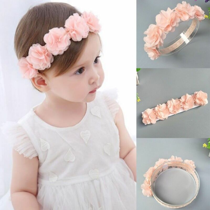 Cute Lace Flower Kids Baby Girl Toddler Headband Hair Band Headwear Accessories 12