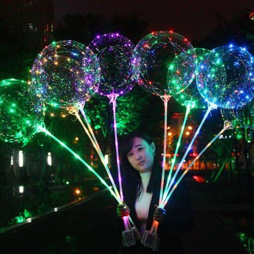 100 Stück Charge 100 X Runde Led Flash Ball Lampe Ballon Licht Lange Stan O5Q2