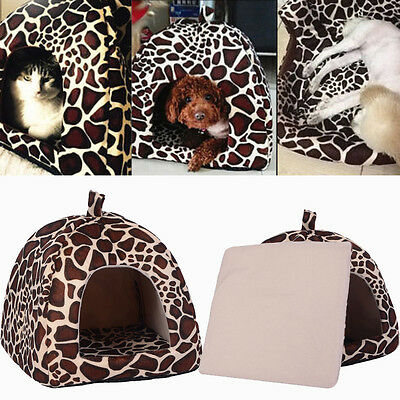 Soft Pet Dog Cat Bed House Kennel Doggy Puppy Warm Cushion Basket Pad Mat S-XL 3