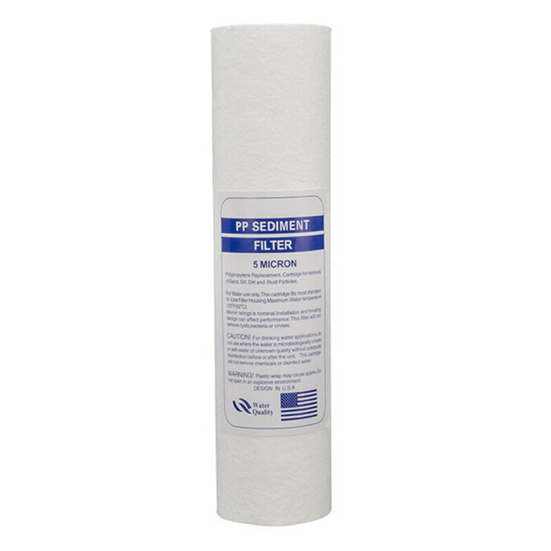10 Inch 5-Micron Sediment PP Cotton Filter System For Water Purifier 5