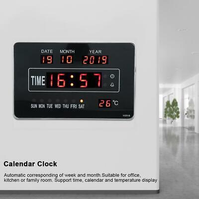 Calendrier électronique multifonctionnel avec horloge numérique et affichage 3