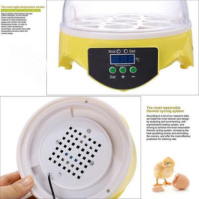 Automatic Mini Incubator 7 Egg Poultry Hatcher Digital Bird Temperature Control 9