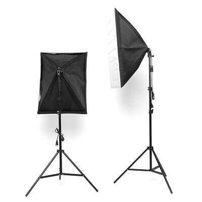 50W LED Continuous Lighting Softbox Photography Studio Soft Box Light Stand Kit 8