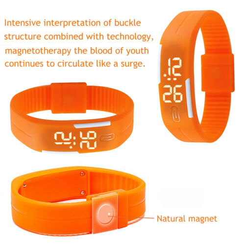 Multifunction LED Sport Electronic Digital Wrist Watch For Child Boys Girls Kids 4